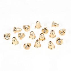 20 ou 50 Fermoirs Boucle D'Oreilles 6mm x 5mm Couleur Doré MC0800009-10