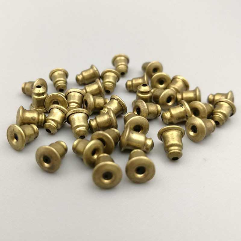 20 ou 50 Fermoirs Boucle D'Oreilles 6mm x 3mm Couleur Bronze