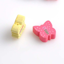 5 ou 10 Perle en Bois Papillon Mixte 15mm MC0700020