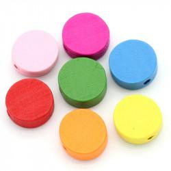 5 ou 10 Perle en Bois Ronde Mixte 13mm MC0700023