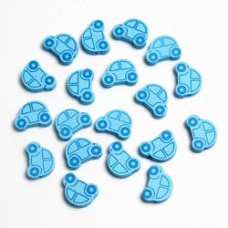 5 ou 10 Perle en Bois Voiture Bleu 25mm x 18mm MC0700025