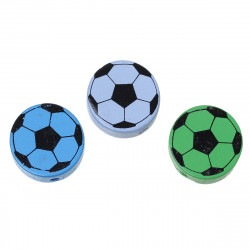 5 Perles Ronde en Bois 20mm Couleur Mixte Ballon de Football MC0720029