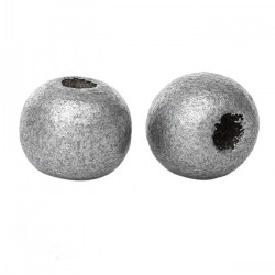 Lot de 20 perles en bois argenté 10mm MC0110049