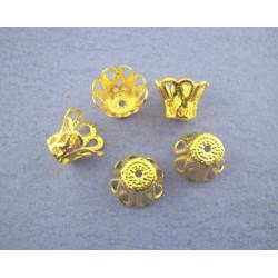 20 ou50 Coupelles / caps / Calottes Doré Métal 6mm x 5mm MC0800052-53