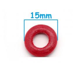 20 ou 50 Perles anneaux en Bois 15mm Mixte MC0115001-2