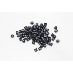 Perle Alphabet Noir Mixte 6mm Lettre Cube MC0106106-8