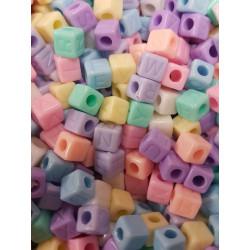 Lot Perles Alphabet 7mm Multicouleur Lettre Cube Ecriture invisible MC0107109 - MC0107110