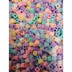 Perles Alphabet Multicouleur Ecriture invisible 7mm Cube Lettre Aléatoire MC0107109 - MC0107110