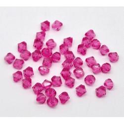 20 Perles en Acrylique Fuchsia 8mm Bicone Toupie MC0108072