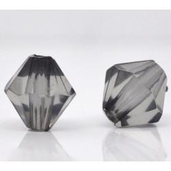 20 Perles en Acrylique Gris 8mm Bicone Toupie MC0108073