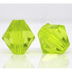 20 Perles en Acrylique Vert 8mm Bicone Toupie MC0108078