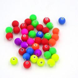 30 Perles en Acrylique 8mm Fluo Mixte MC0108083