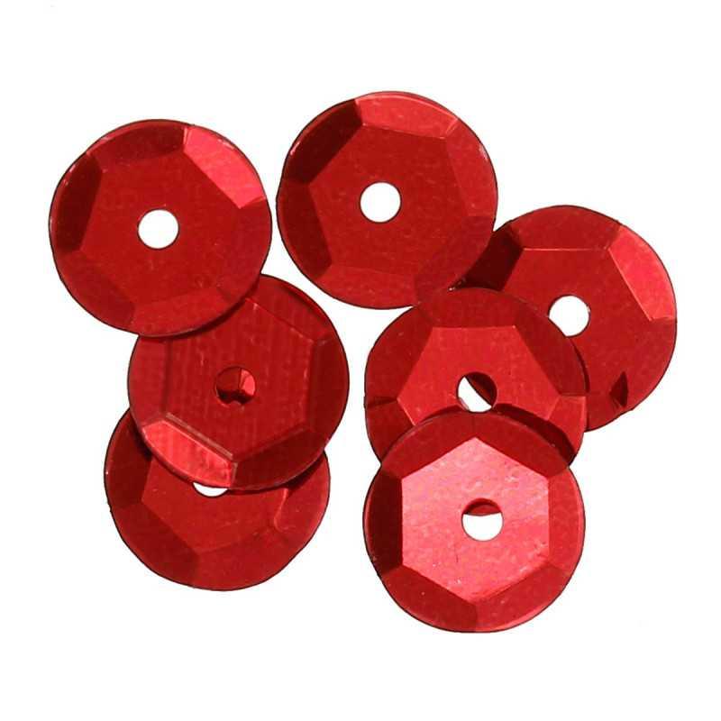 5g Sequins Rond Paillettes Rouge 8mm Environ 225 Pièces