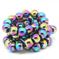 10 Perles Hematite Arc en Ciel 8mm Non-Magnetique MC0108089