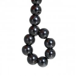 10 Perles Hematite Noir 8mm Magnetique MC0108090