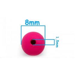 20 Perles en Resine Mat 8mm Mixte MC0108092