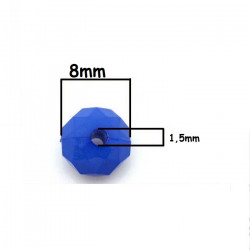 20 Perles 8mm x 5mm Rondelle Facette Mixte en Acrylique MC0108096