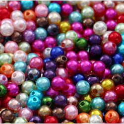 100 Perle imitation Brillant 3mm Couleur Mixte MC0103030