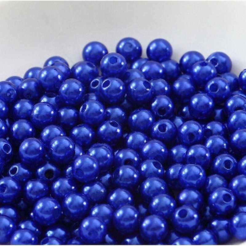 100 Perle imitation Brillant 3mm Couleur Bleu Marine