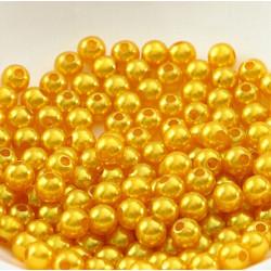 100 Perle imitation Brillant 3mm Couleur Doré MC0103034