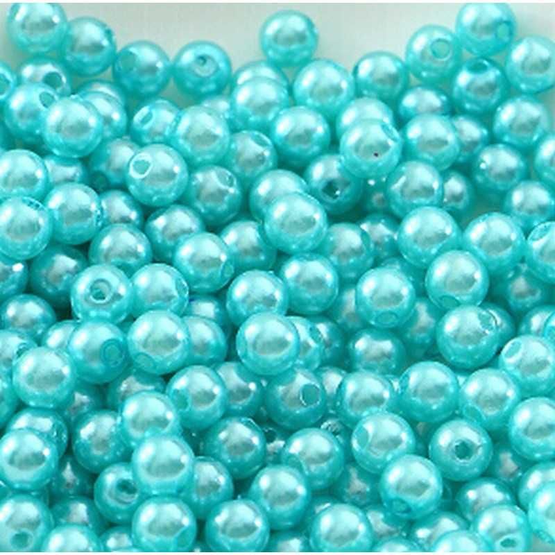 100 Perle imitation Brillant 3mm Couleur Turquoise   Mercerie Center