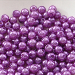 50 Perles 4mm Violet imitation Brillant MC0104039