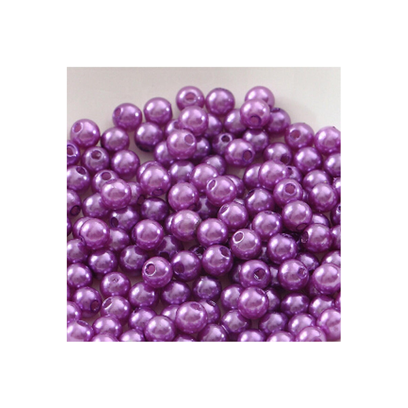 50 Perles 4mm Violet imitation Brillant