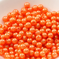 50 Perles 4mm Orange imitation Brillant MC0104042