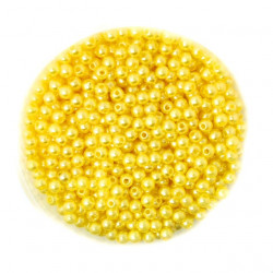 50 Perles 4mm Jaune imitation Brillant MC0104043