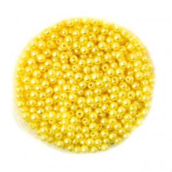 50 Perles 4mm Jaune imitation Brillant MC0104043