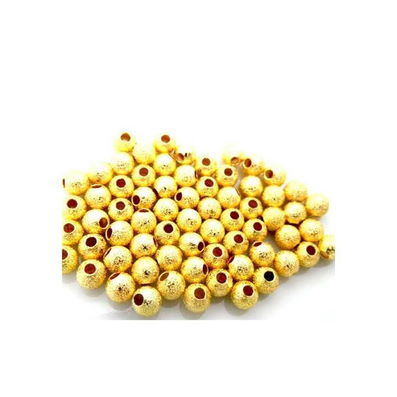 20 Perles en Métal Stardust 5mm Doré