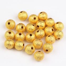 20 Perles en Métal Stardust 5mm Doré MC0105001