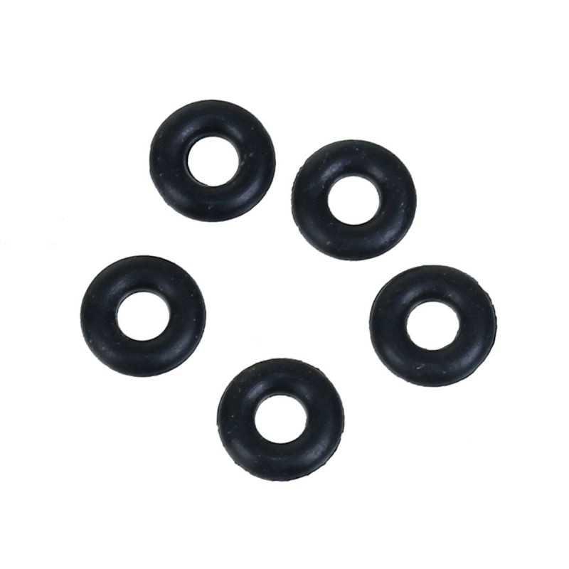 Lot 20 Silicone Stopper Noir 5mm Anneaux Caoutchouc