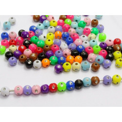 50 Perles 5mm Mix Simple Point Argenté MC0105009