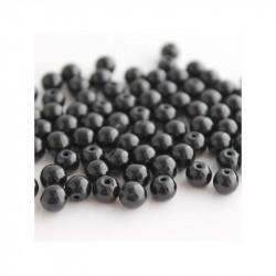 30 Perles en Verre 6mm Imitation Noir MC0106029