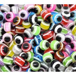 20 Perles Mixte Œil Turc MC0106050