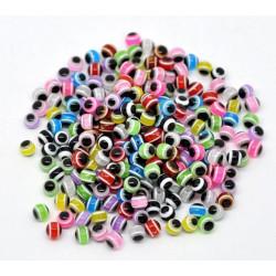 20 Perles 6mm Mixte Œil Turc MC0106050