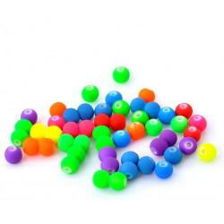 20 Perles Acrylique Mat Fluo Mixte 6mm MC0106057