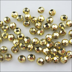 30 Perles 6mm Ballon de Football Doré MC0106063