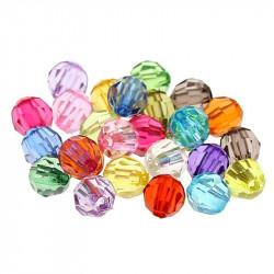 100 Perles en Acrylique Facette Ronde 6mm Cristal de Boheme MC0106070