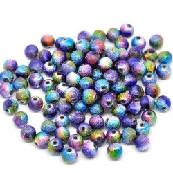 Lot 20 Perles Stardust 8mm Arc En Ciel MC0108062