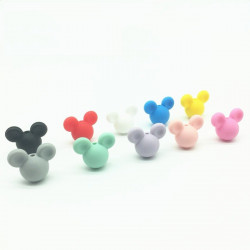 Perle en Silicone Souris 24mm x 20mm Mickey