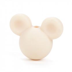 Perle en Silicone Souris 24mm x 20mm Mickey