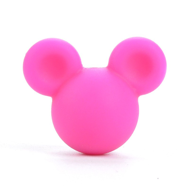 Perle en Silicone Souris 24mm x 20mm Mickey / Minnie