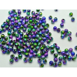 Lot 30 Perles Stardust 6mm Arc en ciel MC0106003