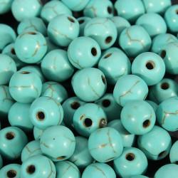 20 Perle Naturel Pierre Turquoise 6mm MC0106023