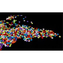 50 Perles Alphabet 7mm x 4mm Mixte Ecriture Noir Acrylique Lettre Ronde MC0107135