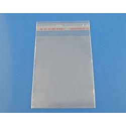 Lot 200 Sachets plastique 10cm x 5cm crystal autocollant auto adhésive cristal