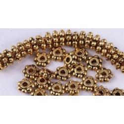 100 Perles Rondelle Fleur intercalaire 4mm
