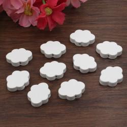 5 Perles en Bois Blanc Nuage 22mm x 17mm MC0700030